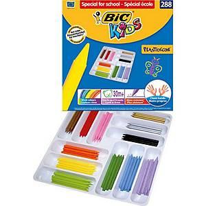 Bic Kids Plastidecor pastels couleur assorti - le paquet de classe de 288