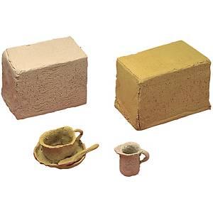 Argile à modeler terra cota cuir 10 kg