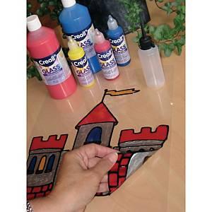 Peinture pour verre 500 ml assorti - le paquet de 5 couleurs + contour de plombe