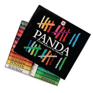Panda pastels à l huile couleurs assorties - la boîte de 24