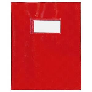 Protège cahier avec étiquette A5 rouge