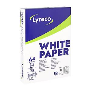 Lyreco white paper FSC A4 80g - 1 box = 5 reams of 500 sheets