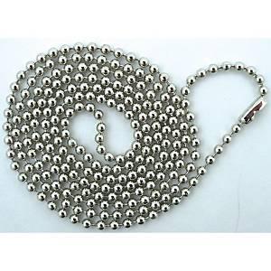 Kaulaketju metallinen 80 cm nikkelitön, 1 kpl=10 kaulaketjua