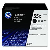 Cartouche de toner HP 55X - CE255XD - noire - pack de 2