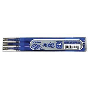 Recharge pour stylo roller Pilot Frixion Point, fine, bleue, les 3 recharges