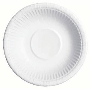 Huhtamäki kartonkilautanen syvä 20cm valkoinen, 1 kpl=50 lautasta