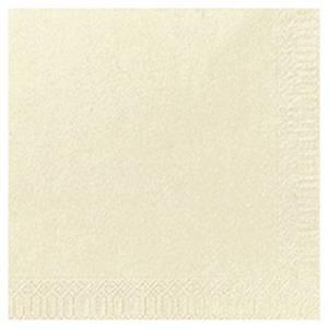 Duni papieren servetten, 2-laags, 24 x 24 cm, cream, pak van 300 servetten