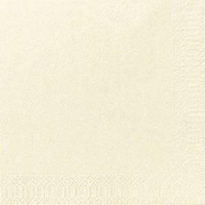 Pacote de 300 guardanapos de papel - 240 x 240 mm - Folha dupla - creme