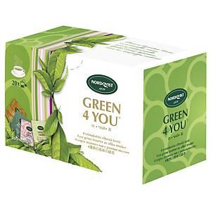 Nordqvist Green 4 You vihreä pussitee, 1 kpl=20 pussia