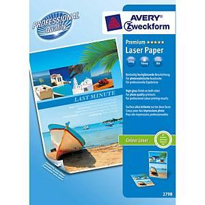 Avery Premium laser valokuvapaperi A4 200g glossy, 1 kpl=100 arkkia