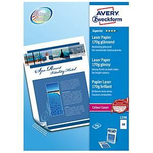Avery Superior laser valokuvapaperi A4 170g glossy, 1 kpl=200 arkkia