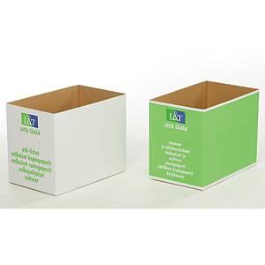 Paperinkeräyslaatikko pahvi vihreä