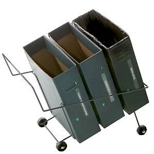 Lajitteluroskakoriteline ja 3 17L pahvilaatikkoa 36,5x62x56cm
