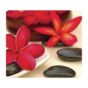 Tapis souris Fellowes, comp. à 95% de pneus en caout. recyclés, motif fleurs