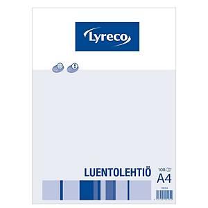 Lyreco luentolehtiö A4/100 ruudutettu 7x7mm rei itys 8-12