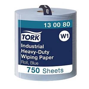 Tork Heavy Duty Wiping Paper industrieel poetsdoek, 3-laags, 750 vellen, per rol