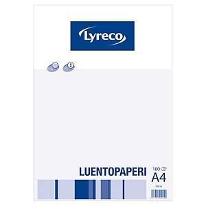 Lyreco luentopaperi A4 ruudut 7x7mm rei itys 8-12, 1 kpl=100 arkkia