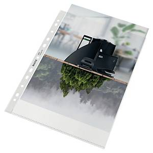 Leitz Recycled A4 Punched Pockets 100 Micron - Pack of 100