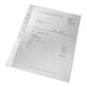 Koszulki ekologiczne LEITZ Re:cycle A4 U, groszkowe, 90 mik, pudełko 100 sztuk