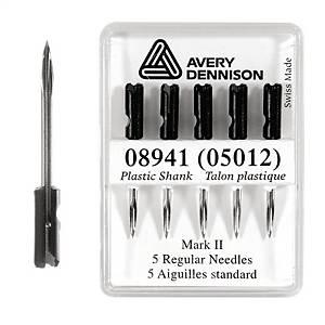 Nåle til tekstilpistol, Avery mark ii standard, pakke a 5 stk.