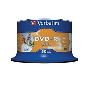 DVD-R Verbatim 43533, 4,7GB, Schreibgeschwindigkeit: 16x, Spindel, 50 Stück