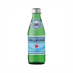 San Pellegrino Sparkling Mineral Water in a Glass Bottle, 0,25l, 24pcs