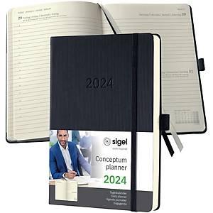 Tageskalender 2021 Conceptum C2010, 1 Tag / 1 Seite, 14,8 x 21,3cm, schwarz