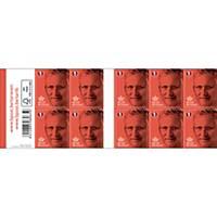 Zelfklevende postzegels België, nationaal 1, tot 50 g, per 100 zegels op vel