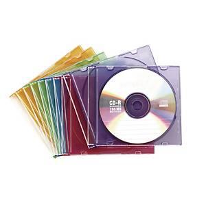 CD/DVD 슬림 케이스 컬러 10입