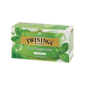 TWININGS Pepper Mint Tea Bags - Box of 25