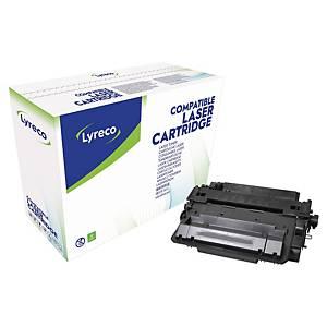 Toner Lyreco kompatibel mit HP CE255X, Reichweite: 12.500 Seiten, schwarz