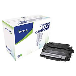 Lyreco Compatible 55X HP Compatible high Yield Print Cartridge  CE255X - Black