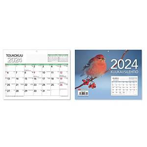 CC 5401 Kuukausilehtiö seinäkalenteri 2021 210 x 156 mm