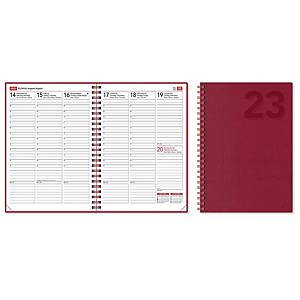 CC 2381 EkoViikkomuistio pöytäkalenteri 2021 A5 punainen