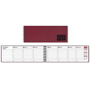 CC 3521 EkoPro pöytäkalenteri 2021 255 x 95mm punainen