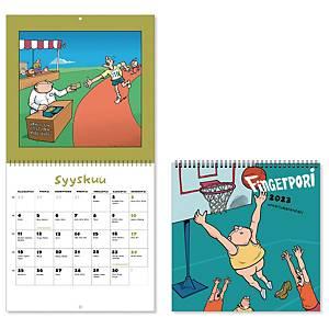 CC 5691 Fingerpori seinäkalenteri 2021 230 x 460 mm