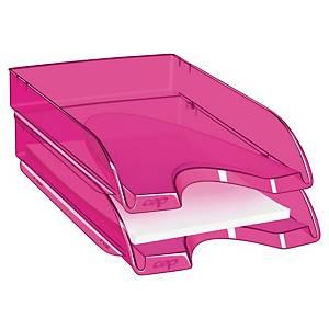 Brevkurv Cep Happy, transparent, rosa