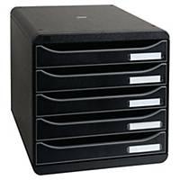 Lådsystem Exacompta Big Box, 5 lådor, svart