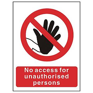 No Admittance Sign 150 X 200mm PP