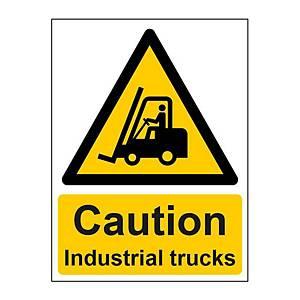 Industrial Trucks Sign 150 X200mm Vinyl