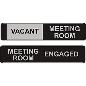 Sliding Meeting Room Door Sign Vacant / Engaged 52 X 255mm
