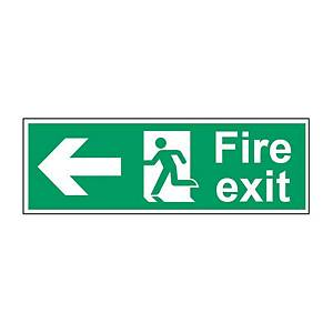 Fire Exit Left Sign 450 X 150mm PP