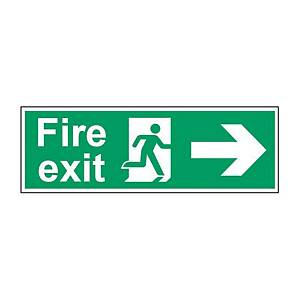 Fire Exit Right Sign 450 X 150mm PP
