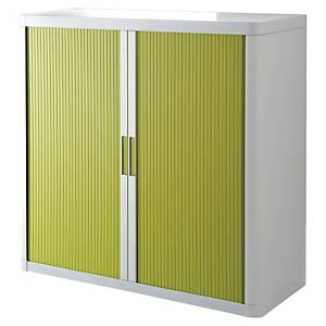 Rollladenschrank Paperflow, Maße: 104,5 x 110 x 41,5cm, weiß/grün