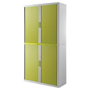 Paperflow cupboard 110x204x41,5cm green/white