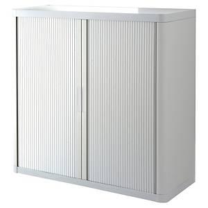 Armoire à rideaux basse Paperflow easyOffice, H 104 cm, blanche
