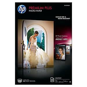 Papier photo jet d encre A3 HP Premium Plus - brillant- 300 g - 20 feuilles