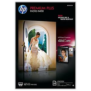 HP CR675A Premium Plus papier photo jet d encre A3 300g - paquet de 20 feuilles