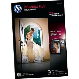 Pacote de 20 folhas de papel fotográfico inkjet HP Q1786A - A3 - 300 g/m²