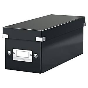 Leitz Click & Store opbergdoos voor Cd en Dvd, zwart